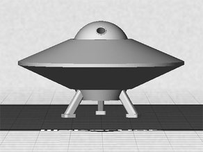 UFO with Spinning Outer Disk