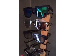 Sunglasses holder, wall mounted