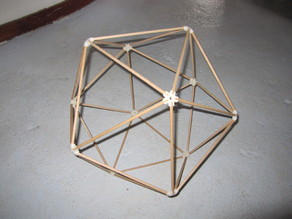 Vertice connectors for platonic solids
