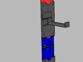Makerbot Spool Holder - customizable wall mount #FilamentChallenge