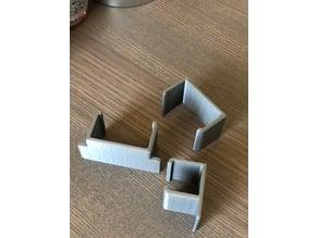 IKEA Veberod Shelf and Drawer clips (prevents OCD flareups)