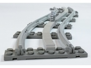 Lego Train curved Rack
