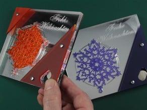 Rainbow LED Christmas greeting card acrylic laser card