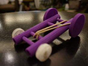 Rubberband Car 3D design and discovery learning project