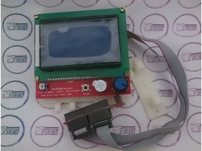 Adjustable Reprap Discount Full Graphic LCD Holder for 2020 profiles