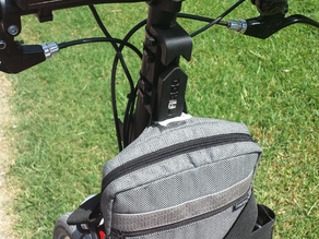 Foldable bike cargo hook