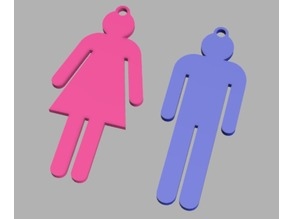 Bathroom Key Gender Markers