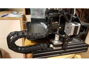 Ender 3 Filament Guide & Chain holder (Free mount)
