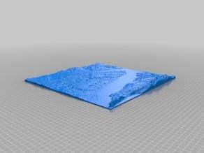 Topographical model of Southampton, UK