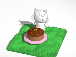 hello kitty and cake