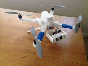 Gimbal Landing Gear (GoPro) w/Battery Attachment