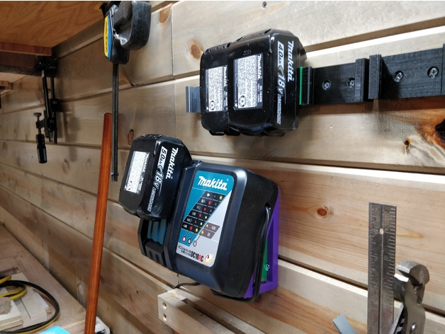 Makita Battery Charger Dc18rc Wall Mount By Jeffeb3