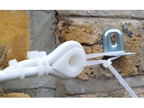 Rounded hook for electric cable
