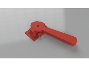 Magnetic latch and lever