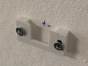 Wall Mount with Gap for Frames or Plates