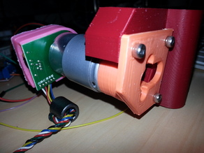 Change your stepper by a servo DC motor on Prusa i3 x-axis