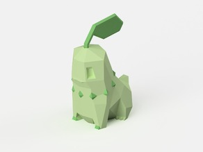Low-Poly Chikorita - Dual Extrusion version