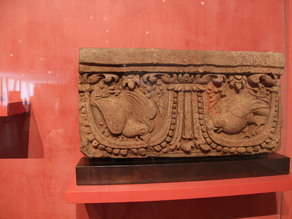 Architectural Panel with Parrots, Indonesia, Java,  9th/10th century (?), Terracotta
