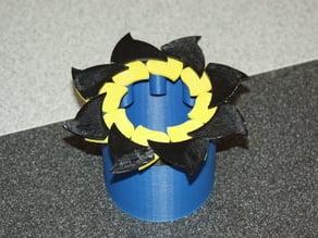 8-Leaf Fully Printable Iris Box