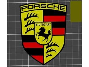 Porsche logo flat for multimaterial