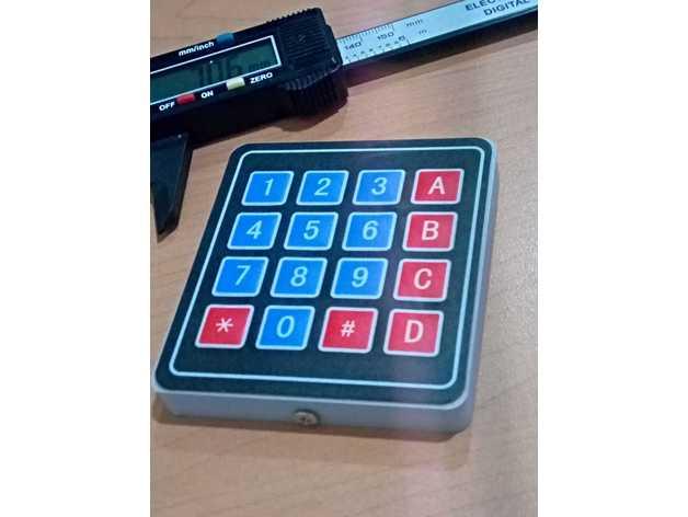 Arduino 3x4 & 4x4 Keypad Case by josepinoDOTcom - Thingiverse