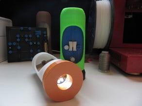 Cutaway LED Flashlight (solder-free)