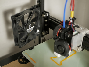 Basic universal fan mount for 2020 extrusion