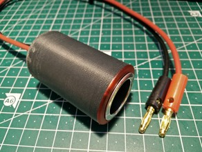 screw-on cigar lighter socket housing