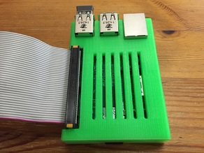 Raspberry Pi 2 large GPIO opening with cover
