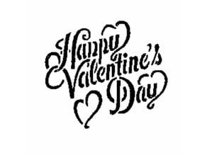 Happy Valentine's Day stencil