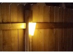 High Power Garden Solar wall mount light 60x60mm panel