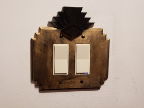 Art Deco Decora Switch Plate