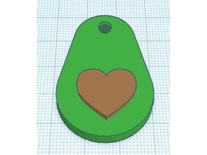 I Love Avocados Keychain