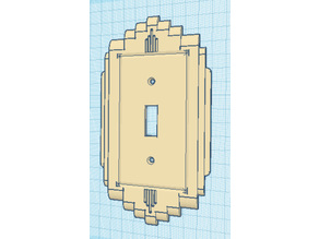 15 Types 1940's Vintage Retro Art Deco Lightswitch Cover Wall Plate