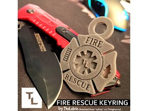 Fire Rescue Maltese Cross / Star of Life Keyring [REMIX]