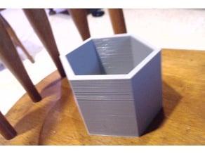 Hexagon shaped pot