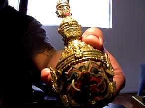 holy thai buddah head