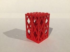 Lego brick no. 2580 Support 2 x 2 x 5 Lattice Pillar, Complete Assembly x4