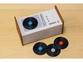 Multi-Color Record Player & Records