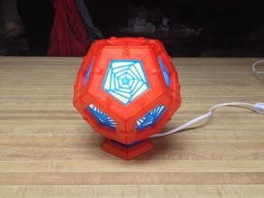 Dodecahedron Lamp - After AK Eric