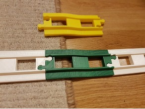 LEGO Duplo train track: straight carpet step (+v2)