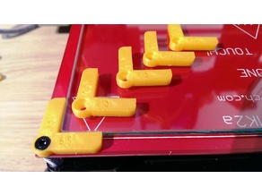Glass Plate Holder Bed Clip for Geeetech I3X / PCB Heatbed MK2a