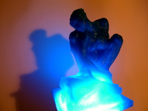 Lightsculpture - Crouching Woman by Auguste Rodin