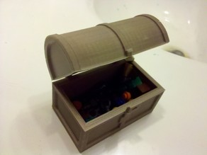 Hinged Treasure Chest with Latch