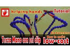 Soldering HD BASE third hand, helping hand, six tweezers