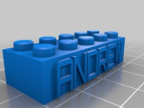 ANDREW Lego Block Necklace/Keychain