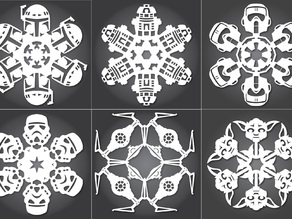 Star Wars Snowflakes