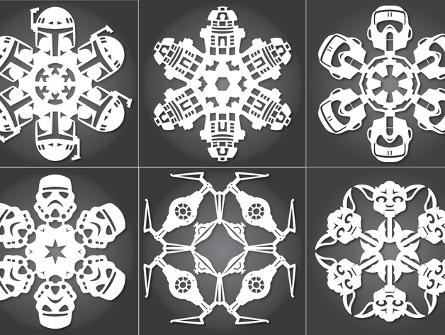 Star wars snowflakes by arcticdev thingiverse pronofoot35fo Image collections