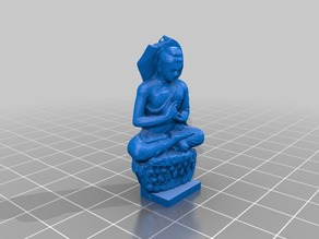 Low Poly Seated Buddah