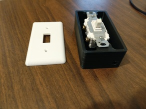 Light switch box and cover for LED strip lights